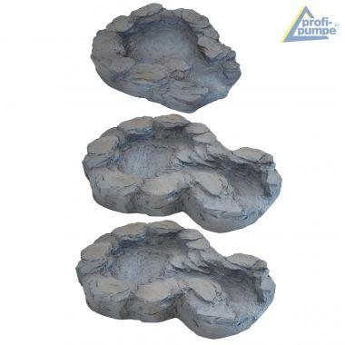 Bachlauf QUELLBACH II dunkel-grau, 3-teilig ohne Pumpe