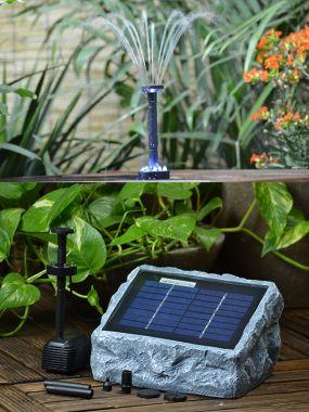 Solar-Teichpumpe-Set