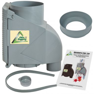 Fallrohrfilter T50 Grau
