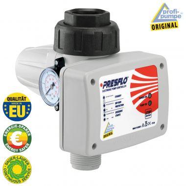 Durchflusswächter PRESFLO-2® - 1,5bar Einschaltdruck - Automatic-Controller unverkabelt mit intelligenten Selbst-Überwachungsfunktionen