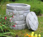 B-Ware Regentonne Märchenbrunnen granit-grau 330 L