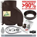 Filter T 50 braun inkl. DN50 Anschluss-Set grau