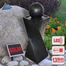 B-Ware Solar - Brunnen GRANIT-BLACK-1 mit LED Licht
