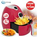 B-Ware Heißluft-Multifritteuse ECO AIR-PROFI 1350W, rot