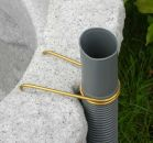 Regentonne FELSBROCKEN  stein-grau inkl. Fallrohrfilter T33 grau