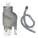 AMPHORE MAJA 500l terra-kotta inkl. Füllstandsschlauch und Fallrohrfilter T33 grau