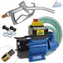Diesel Profi 600-02 Pumpe mit Saug- und Druckschlauch, Pistole und Zubehör