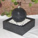 Solar Gartenbrunnen MODERN-2 mit LED-Licht und Li-Ion-Akku