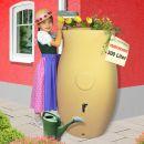 Regenfass mit Pflanzschale - Amphore Maja 300l -  mediterranes Flair in Ihrem Garten!