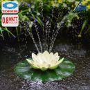 Solar-Teichpumpen-Set Lotus-Blume - Weiß