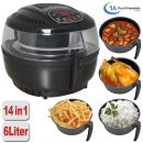 Heißluft-Multifritteuse, Multibackofen & Suppenautomat & Reiskocher & Grill ECO AIR-PROFI SOUP DC-1400W, schwarz
