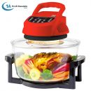 Heißluft-Fritteuse & 10in1-Multikocher ECO AIR-PROFI 1350W H-DC, schwarz-rot