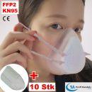 Mehrfach-Maske KN 95 aus Silikon mit austauschbarem 5-fach Filter, Ventil und 10 Stck Ersatzfilter