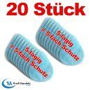 20 Stck-SET FFP2/KN 95 Ersatzfilter für Mehrfach-Maske aus Silikon