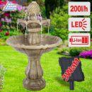Solar - Gartenbrunnen & Wasserspiel KLASSIK-GARTEN-3 mit LED-Licht und Li-Ion-Akku