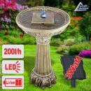 Solar - Gartenbrunnen & Wasserspiel LIEBES-BRUNNEN mit LED-Licht und Li-Ion-Akku