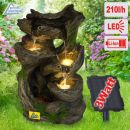 Solar - Gartenbrunnen & Wasserspiel MÄRCHENWALD mit Li-Ion-Akku
