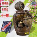 Solar - Gartenbrunnen & Wasserspiel 4-AMPHOREN mit Li-Ion-Akku
