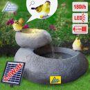 Solar - Gartenbrunnen & Wasserspiel FELS-SCHALEN mit Li-Ion-Akku