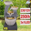 Gartenbrunnen FENG-SHUI  mit LED-Licht