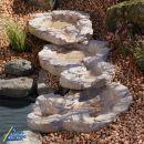 Bachlauf QUELLBACH II sandstein, 3-teilig ohne Pumpe