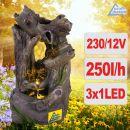 Gartenbrunnen WALD-GEFLÜSTER  mit LED-Licht