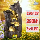 Gartenbrunnen WALD-ZAUBER mit LED-Licht